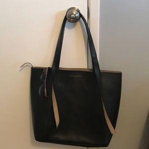 Donna Karan black shopping bag purse